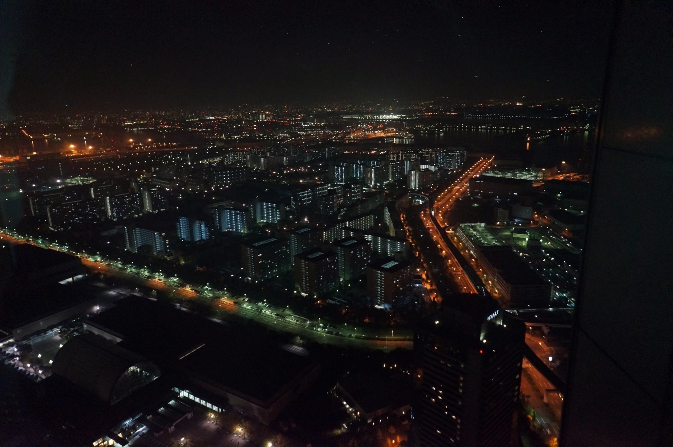 코스모타워에서 내려다본 오사카의 야경